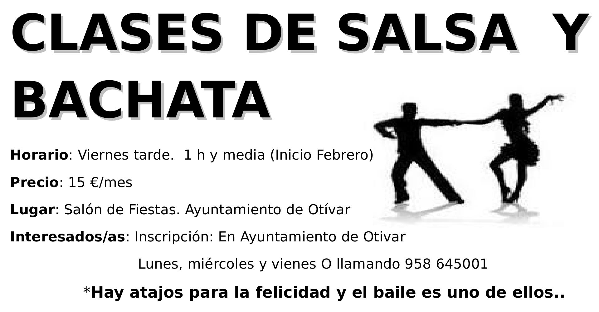 CartelCLASESDE SALSA Y BACHATA
